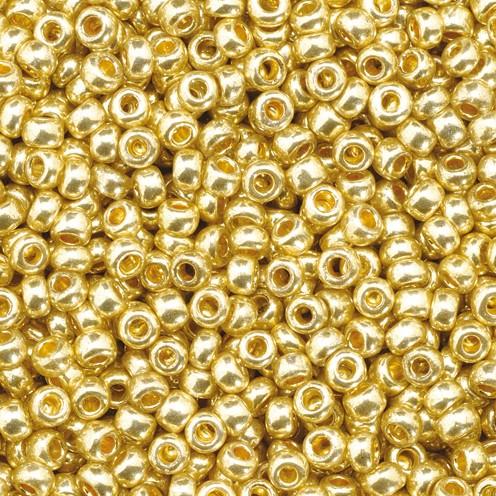 Indianerperlen metallic ø 2,2 mm 500 g kupfergold