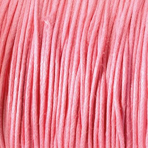 Baumwollkordel gewachst ~ 0,5 mm pink
