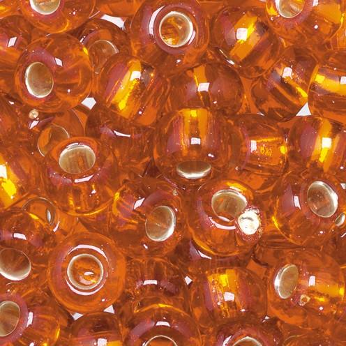 Indianerperlen Silbereinzug ø 5,5 mm 500 g orange