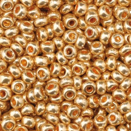 Indianerperlen metallic ø 2,6 mm 500 g rotgold