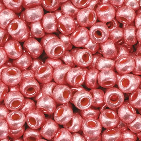 Indianerperlen metallic ø 3,5 mm 500 g pink