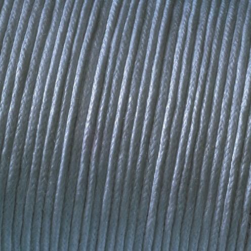 Baumwollkordel gewachst ø 1 mm grau