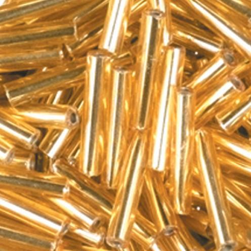Stiftperlen Silbereinzug ø 2 x 11 mm 13 g gold