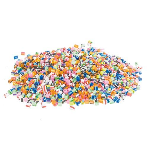 Nabbi® - Bügelperlen ~Ø 5 x H 5 mm 10.000 Stk. Streifen Mix