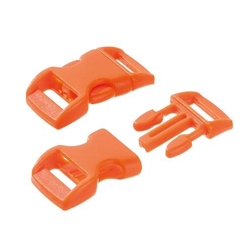 Klickschnalle 11 / 14 mm 10 Stk. orange