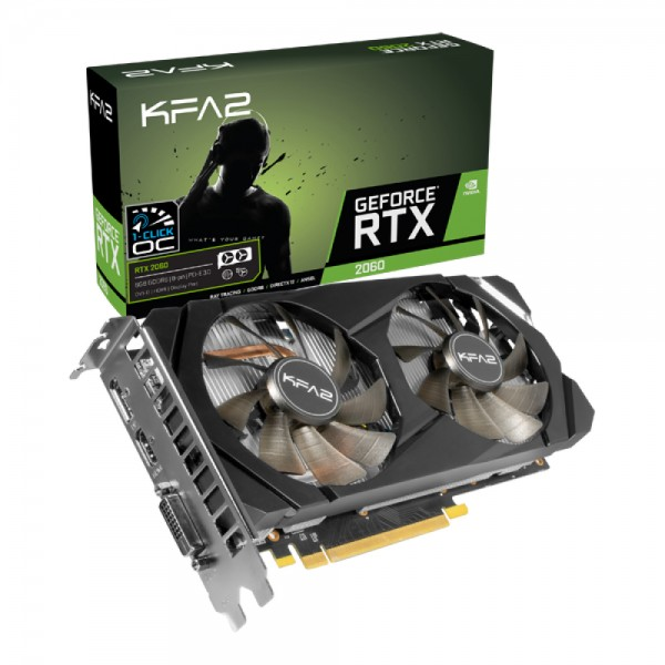 KFA2 GeForce RTX 2060 (1-Click OC) - GeForce RTX 2060 - 6 GB - GDDR6 - 192 Bit - 7680 x 4320 Pixel -