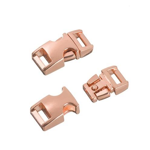 Klickschnalle Metall 11 / 14 mm kupfer