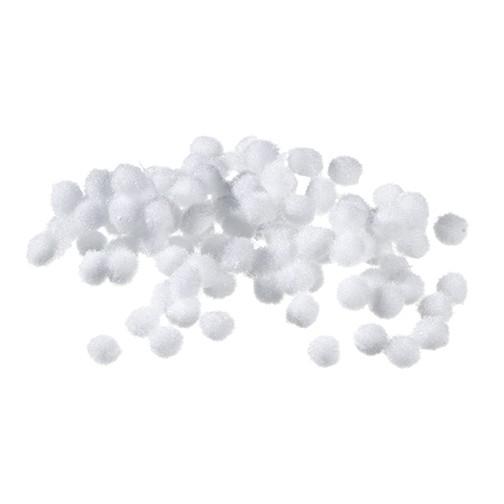 Pompons 7 mm 100 Stk. weiß