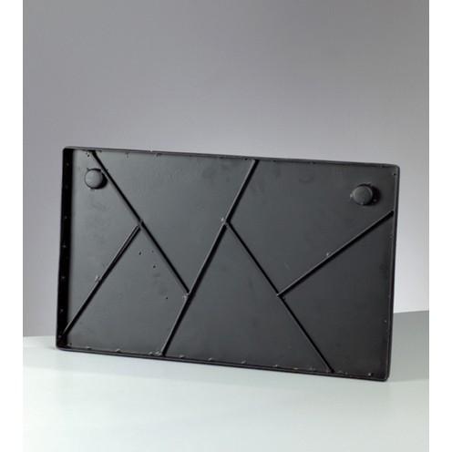 Mosaix Schild / Platte 50 x 30 cm schwarz