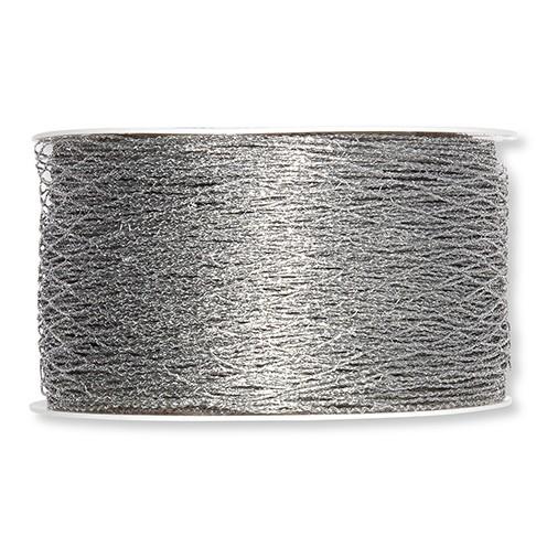 Drahtband Stretch-Gitter 40 mm 15 m silber