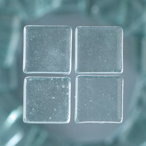 MosaixSoft-Glassteine 20 x 20 x 4 mm 1.000 g ~ 260 Stk. transparent
