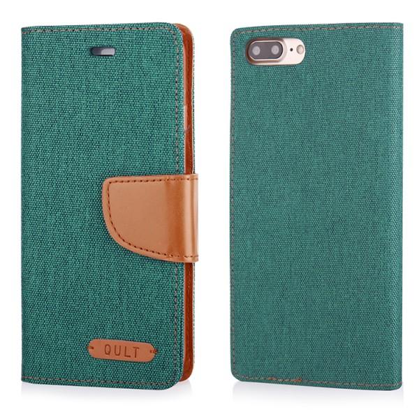 "CASE """"FANCY"""" CANVAS iPhone 7/8 Plus green"