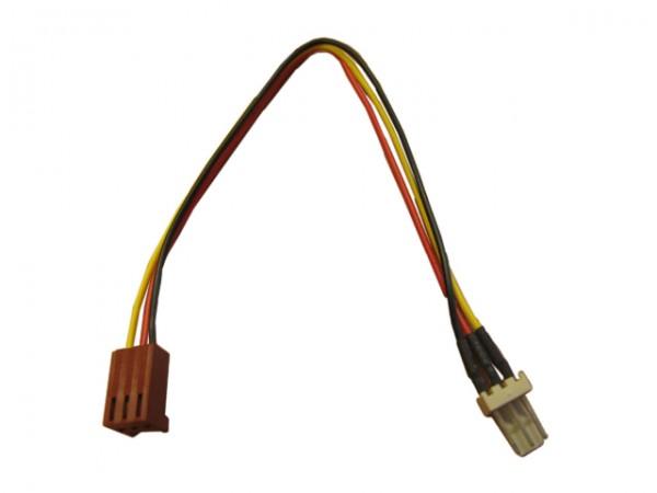 InLine Lüfterkabel Verlängerung - 3pol Molex Stecker / Buchse - Länge 0,6m