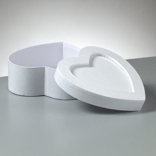 Box Mosaix Herz 15 x 15 x 6 cm weiß