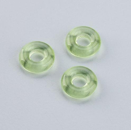 Glasperle Ring Großloch 11 x 17 mm / 6 mm 30 Stk. topaz