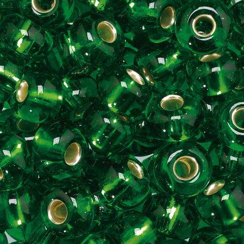 Indianerperlen Silbereinzug ø 5,5 mm 17 g dunkelgrün