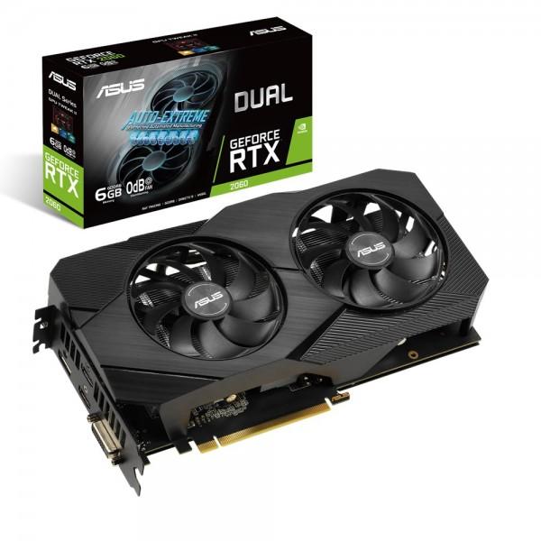 ASUS Dual -RTX2060-6G-EVO - GeForce RTX 2060 - 6 GB - GDDR6 - 192 Bit - 7680 x 4320 Pixel - PCI Expr