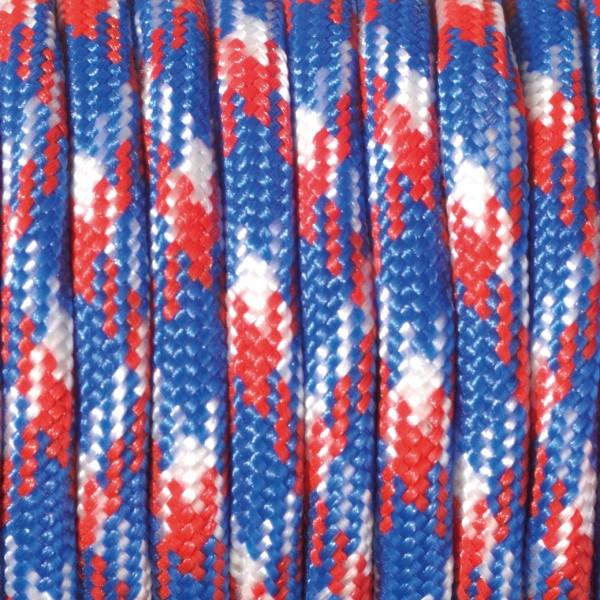 Paracord Farbmix 4 mm x 50 m rot blau weiß