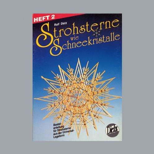 Buch deutsch Strohsterne Schneekristalle A 5 Heft 2 / 32S. m.Legeschablonen