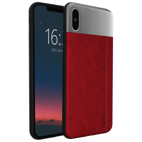 """BACK CASE QULT """"""""SLATE"""""""" iPhone X deep red"""