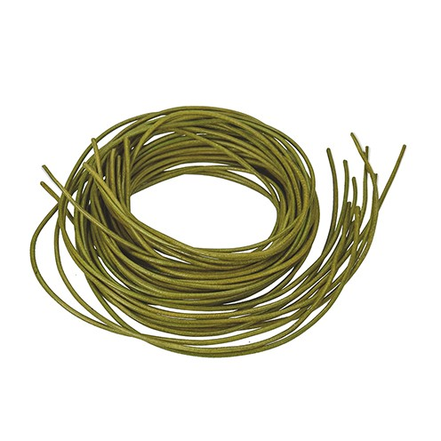 Ziegenlederriemen ø 1,5 mm 1 m oliv