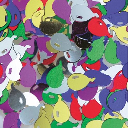 Pailletten Ballon 12 mm 20 g farbig sortiert