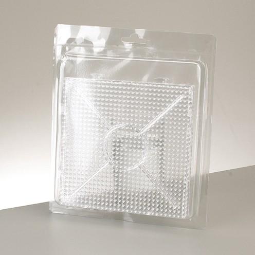Photo Pearls® - Legeplatte Ansetzplatte für 900 Perlen 15 x 15 cm 2 Stk. transparent