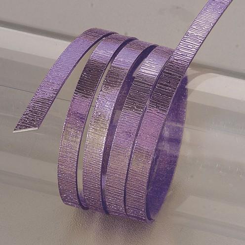 Aludraht eloxiert Struktur flach 1 x 5 mm 2 m flieder