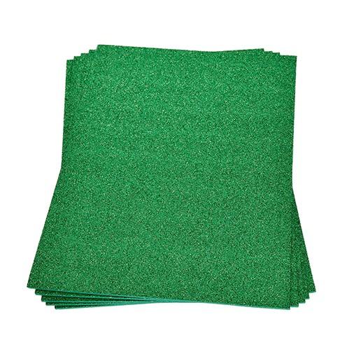 Moosgummiplatte Glitter 200 x 300 x 2 mm grün