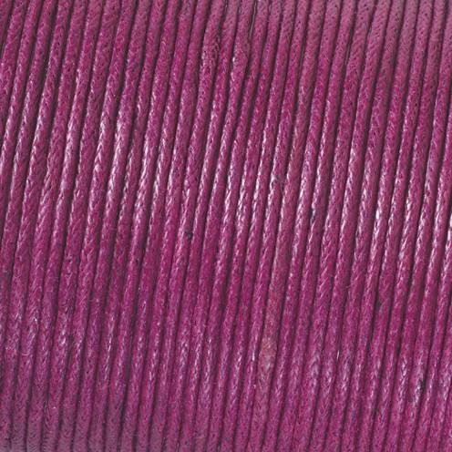 Baumwollkordel gewachst ø 2 mm / 6 m aubergine