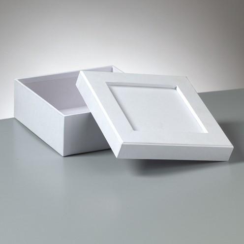 Box Mosaix Quadrat 15 x 15 x 6 cm weiß
