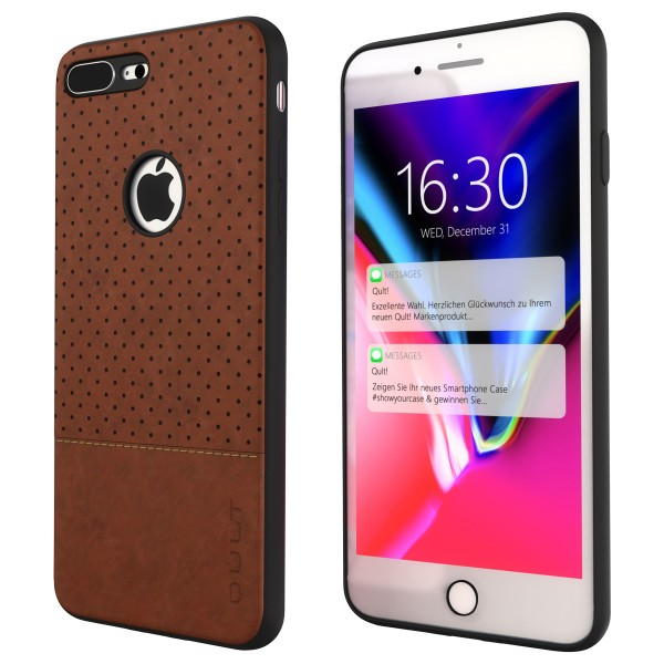 "BACK CASE QULT """"DROP"""" iPhone 8 Plus 5.5"""" brown"