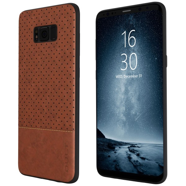 "BACK CASE QULT """"DROP"""" SAMS.G955 S8 Plus brown"