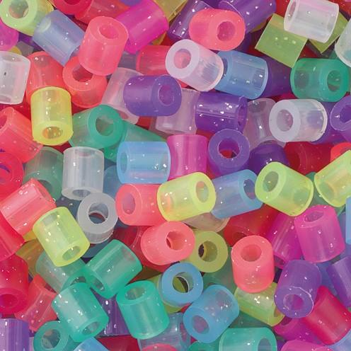 Nabbi® - Bügelperlen ~Ø 5 x H 5 mm 1.100 Stk. Glitter Mix