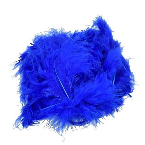 Marabufeder 100 - 120 mm 2 g ~ 20 Stk. blau