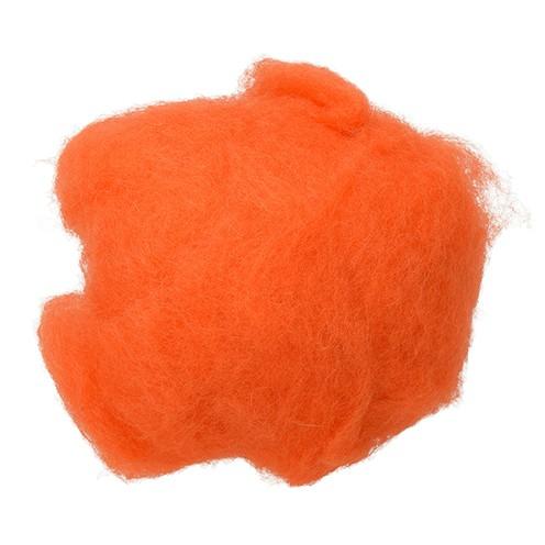 Wolle zum Filzen reine Schurwolle 30 g orange