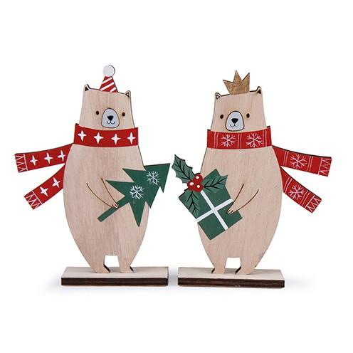 Bär Holz sortiert 16,5 x 11,5 cm