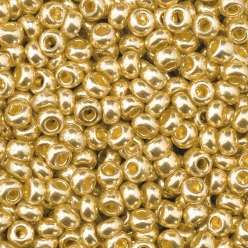 Indianerperlen metallic ø 2,6 mm 500 g altgold