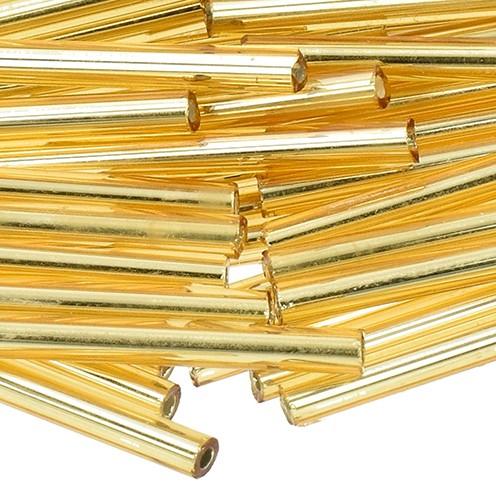 Stiftperlen Silbereinzug ø 2 x 30 mm 10 g gold