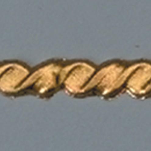 Wachsdekor Borte Kordel flach 200 x 4 mm 1 Stk. gold