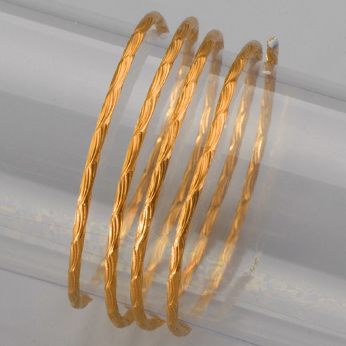 Aludraht eloxiert Prägung Welle ø 2 mm 2 m gelb