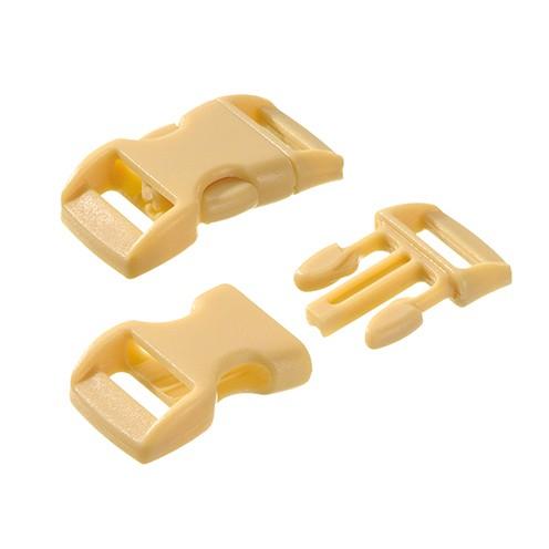 Klickschnalle 11 / 14 mm 10 Stk. beige