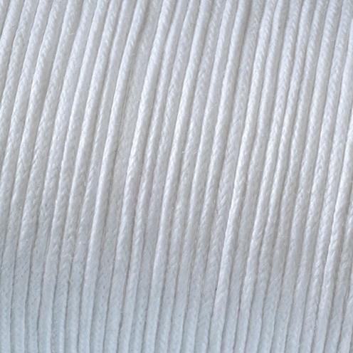 Baumwollkordel gewachst ø 1 mm weiß