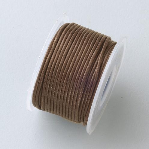 Baumwollkordel gewachst ø 0,5 mm 9 m dunkelbraun
