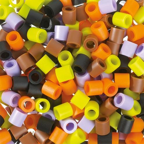 Nabbi® Jumbo Beads -Bügelperle ~Ø 10 x H 10 mm 600 Stk. Herbst Mix