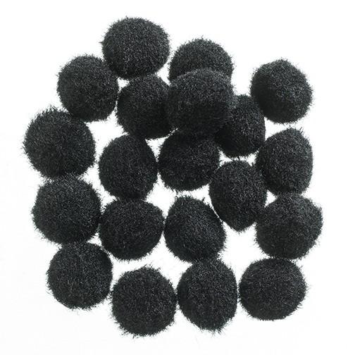 Pompons 10 mm 100 Stk. schwarz