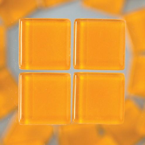 MosaixSoft-Glassteine 15 x 15 x 4 mm 200 g ~ 91 Stk. orange