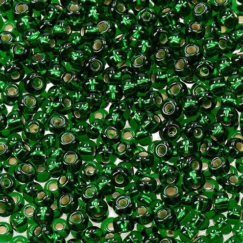 Indianerperlen Silbereinzug ø 3,5 mm 17 g blattgrün