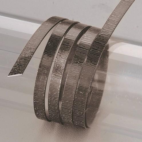 Aludraht eloxiert Struktur flach 1 x 5 mm 2 m schwarz