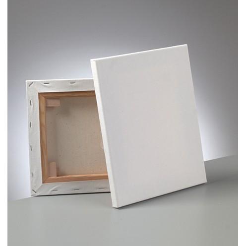Keilrahmen bespannt 24 x 30 cm / 1,7 cm weiß